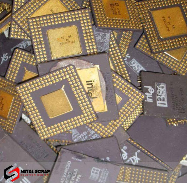 Ceramic CPU scrap (Gold Plated)