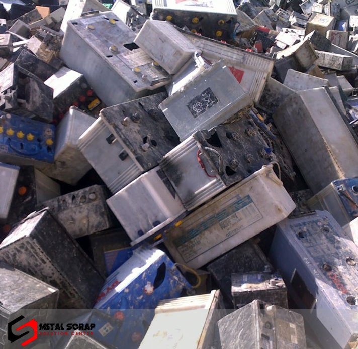 Drained Lead Car Battery Scrap